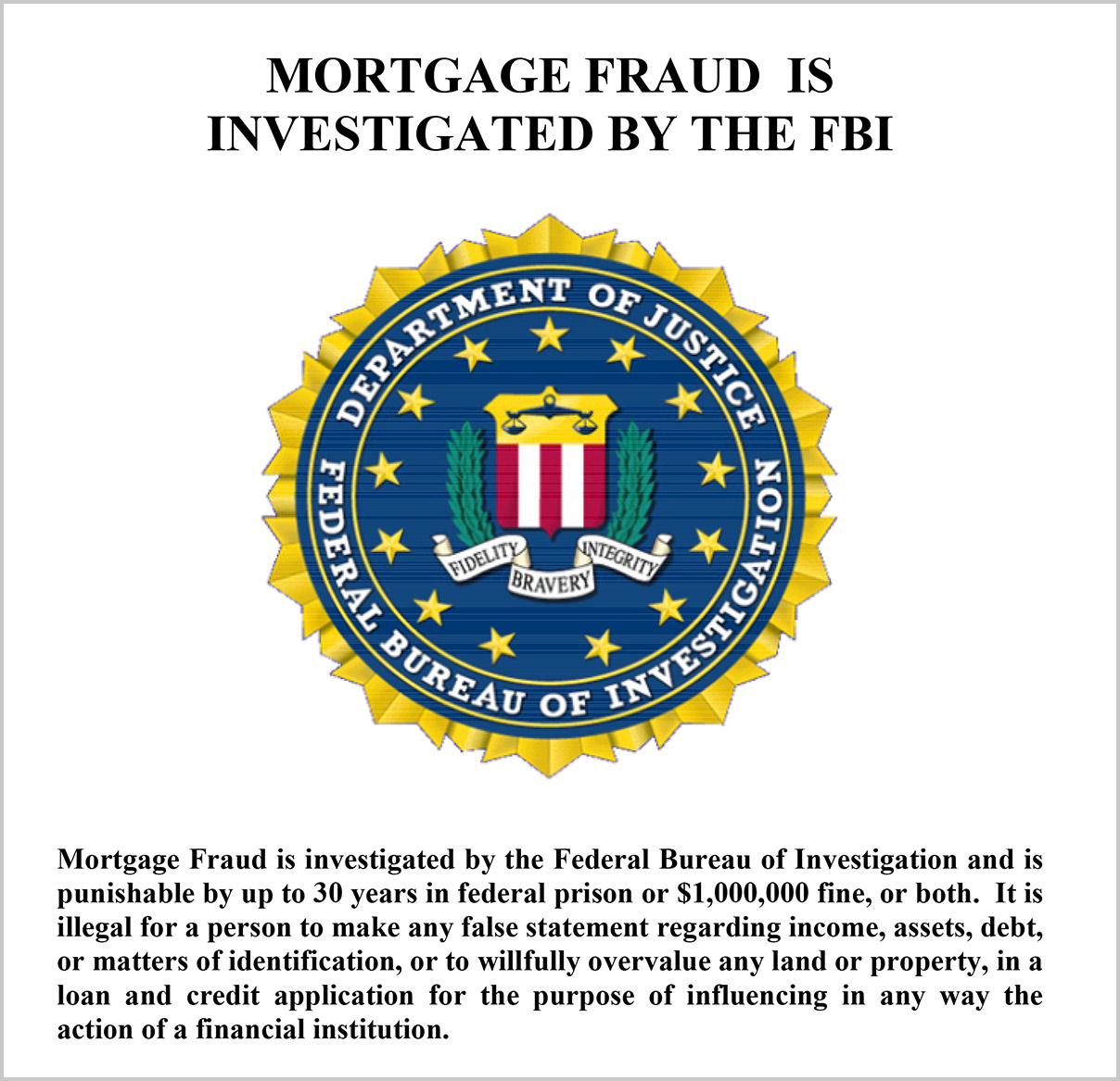 mortgage fraud warning