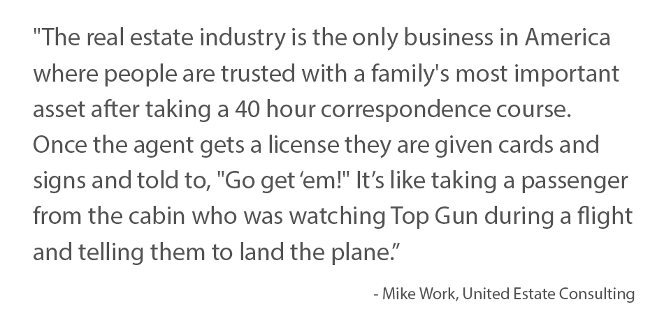 Mike Work Real Estate Apprentice Quote