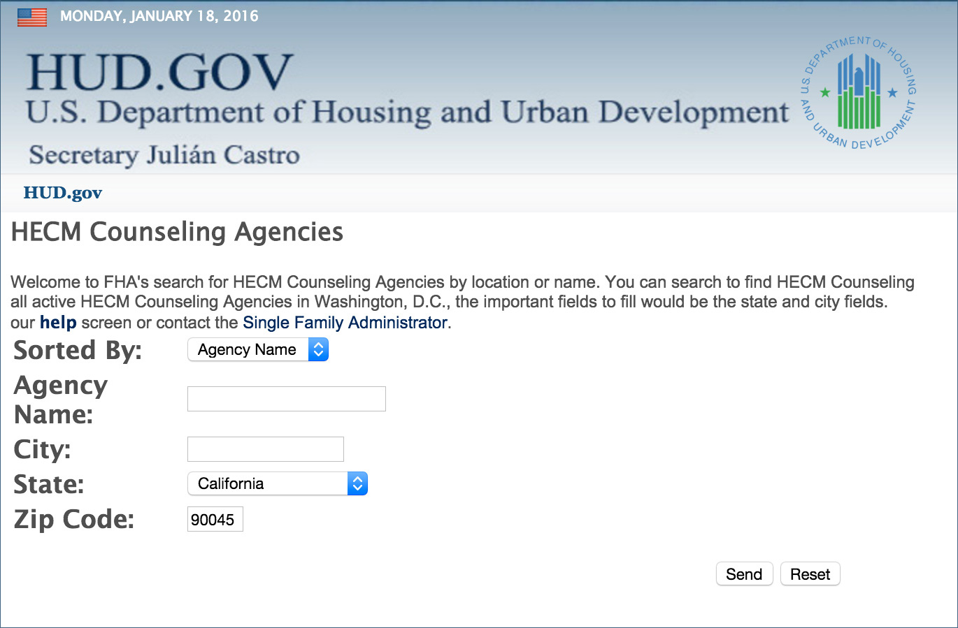 housing of urban development HECM counseling agencies