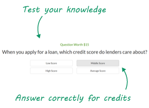 Answer Questions & Earn Credits